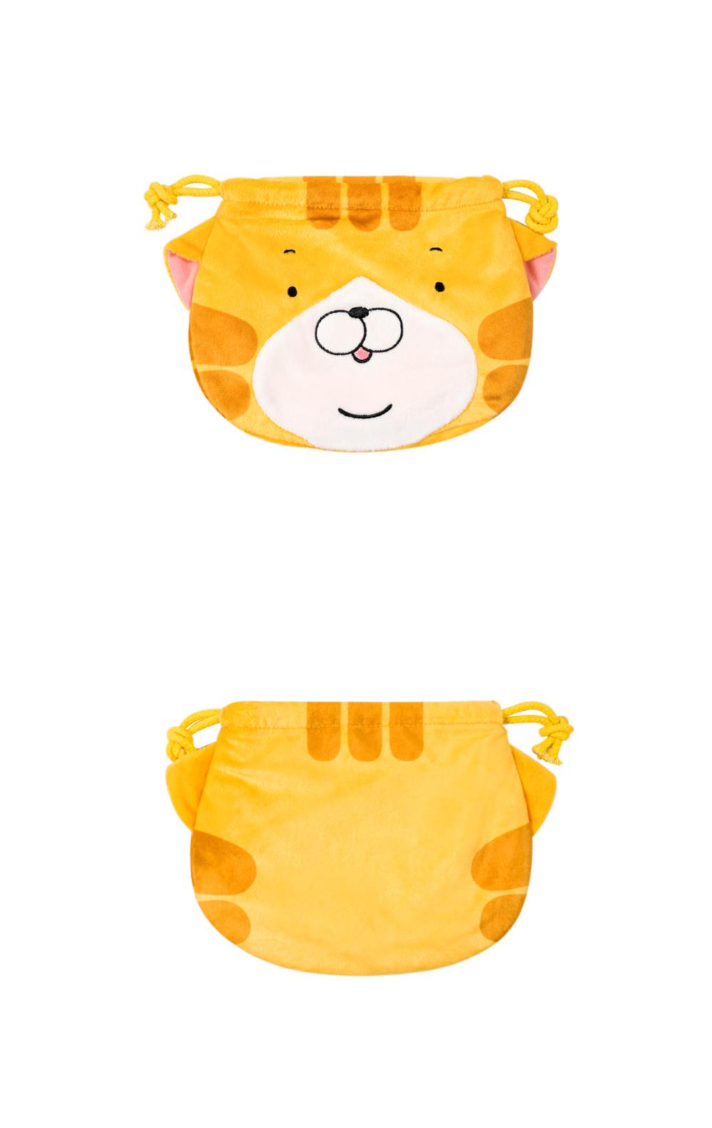 絨毛束口袋-綠豆眼款(黃)【LC1504020302】