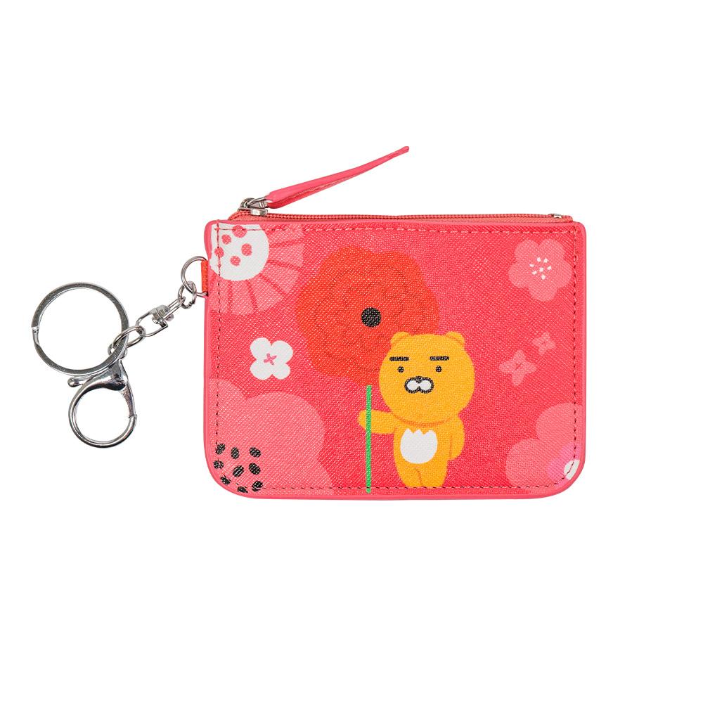 Kakao Friends 票卡零錢包-紅花款【KF0400201102】