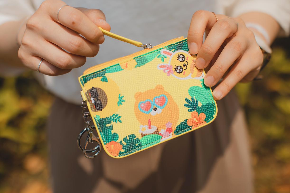 Kakao Friends 票卡零錢包-叢林款【KF0400201104】