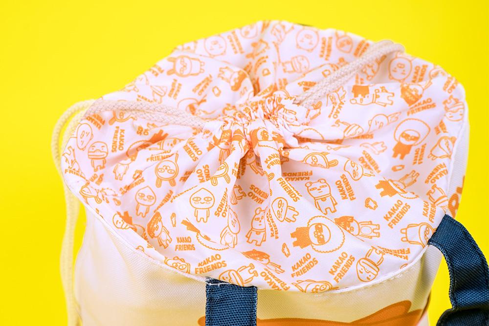 Kakao Friends束口帆布便當袋-Ryan熊掌款(白)【KF1100200401】