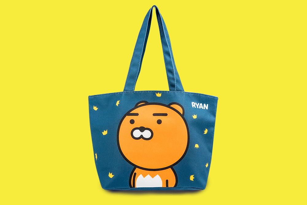 Kakao Friends帆布便當袋-Ryan款(深藍)【KF1100200403】