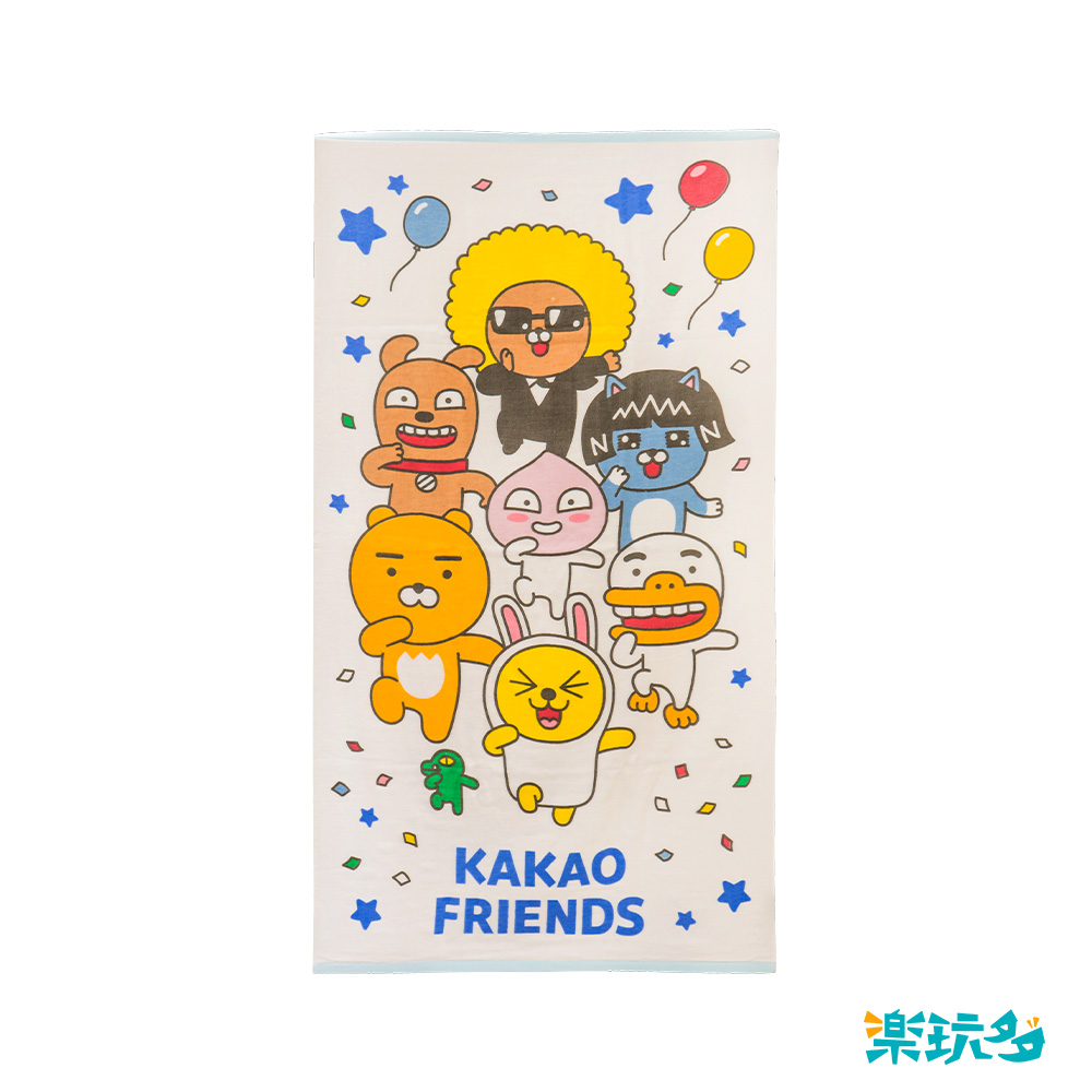 Kakao Friends 紗布浴巾-大集合款【KF2700201101】