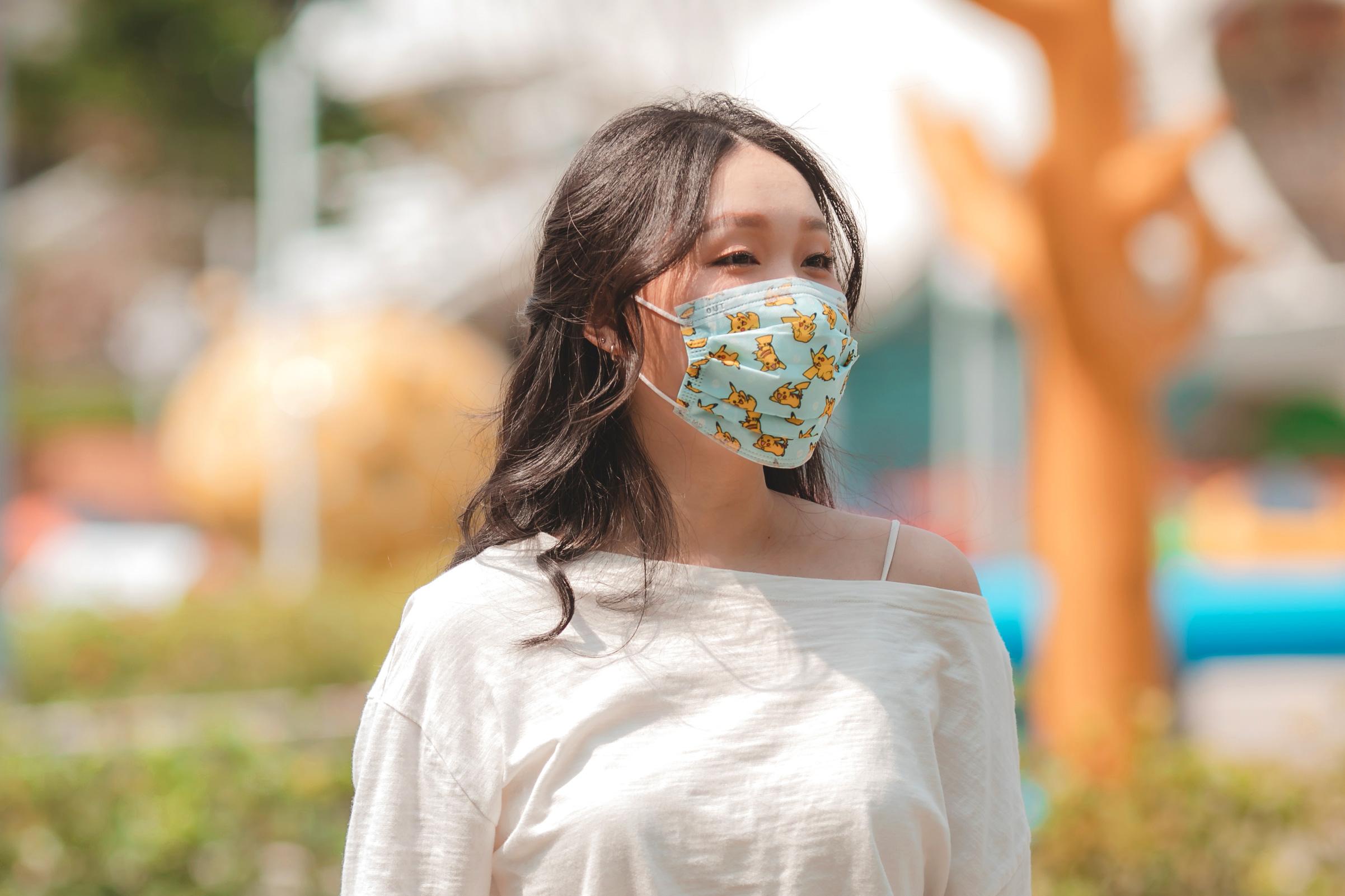 寶可夢成人平面醫用口罩(20入)-皮卡丘款(淺藍)【PM2800201202】