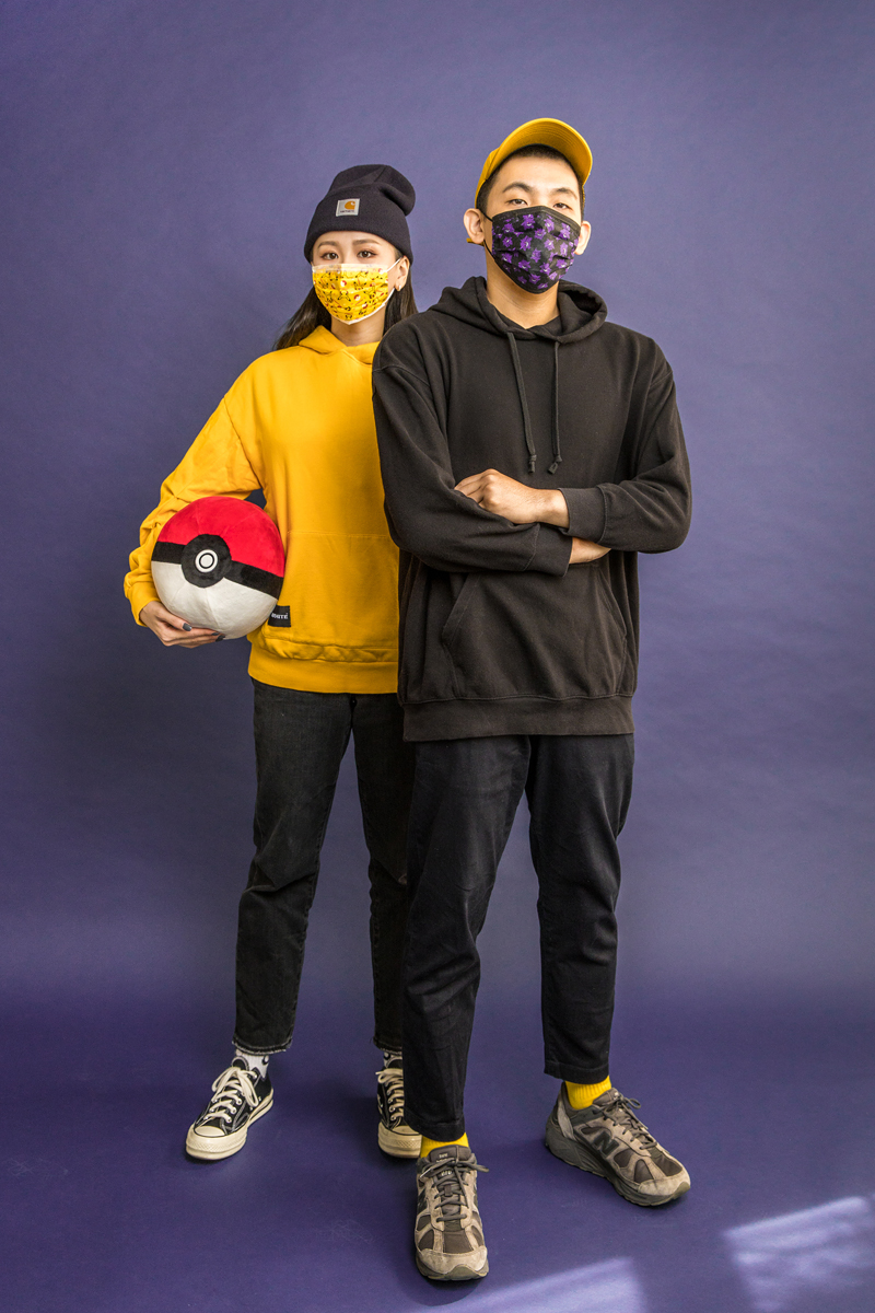 寶可夢成人平面醫用口罩(20入)-皮卡丘大臉款(黃)【PM2800201204】