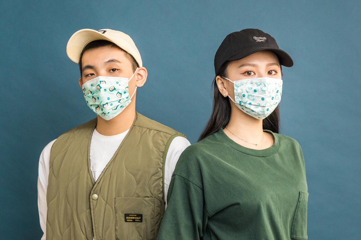 寶可夢成人平面醫用口罩(20入)-卡比獸大臉款(藍綠)【PM2806030301】