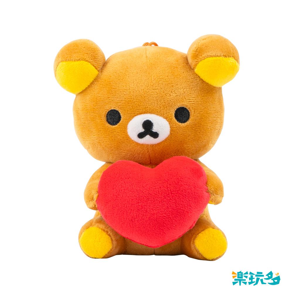 拉拉熊-坐姿抱愛心款15CM【RK0901010207】