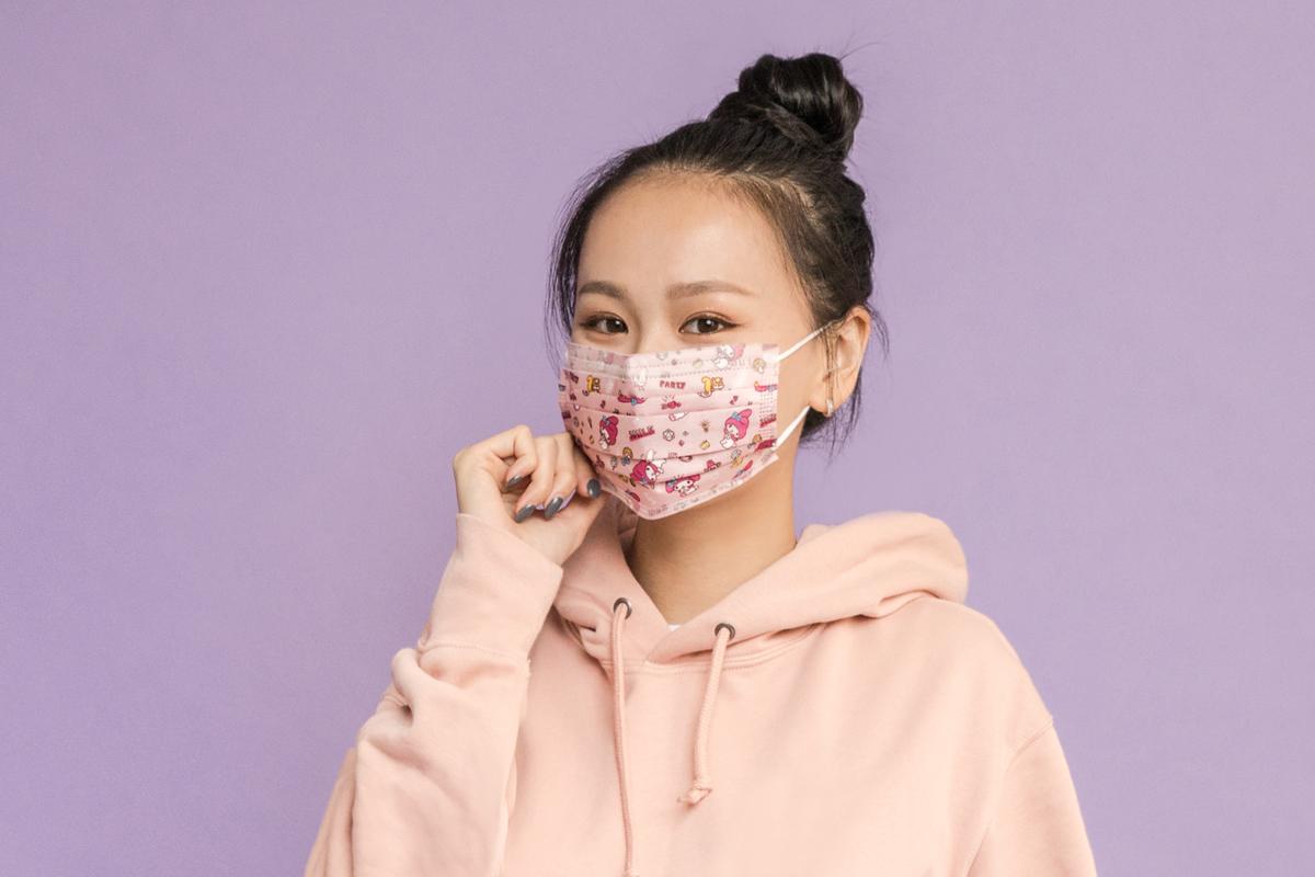 Sanrio三麗鷗- 成人平面醫用口罩(20入)-美樂蒂款(粉紅)【SR0100201108】